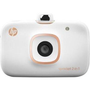 HP Sprocket 二合一 便携式照片打印机相机