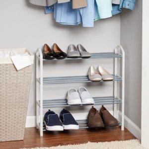 Mainstays 4层不锈钢鞋架