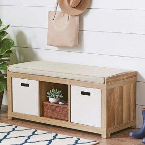 Walmart Better Homes and Gardens 3-Cube Organizer Storage Bench