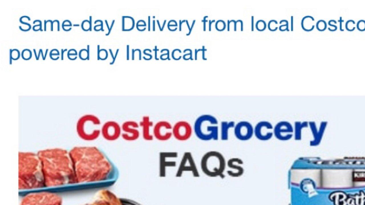 一次Costco网购当日达