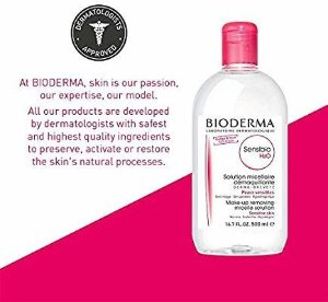 Amazon.com: Bioderma Sensibio H2O Soothing Micellar Cleansing Water and Makeup Removing Solution for Sensitive Skin - Face and Eyes: Gateway
