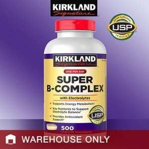 Kirkland Signature Super B-Complex, 500 Tablets