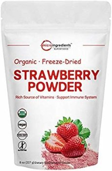 Amazon.com: Organic Strawberry Freeze Dried Powder, 8 Ounce, Rich in Vitamins and Antioxidants, Best Super Foods for Smoothie & Beverage Blend, Non-GMO and Vegan Friendly: Health & Personal Care