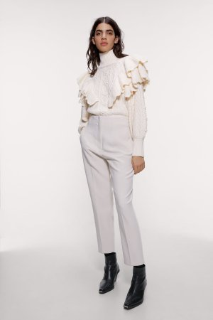 HIGH-WAISTED PANTS WITH DARTS-View all-PANTS-WOMAN | ZARA United States