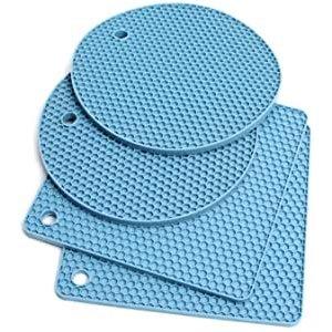 SEFONE 厨房多用途隔热防滑硅胶锅垫 4件装