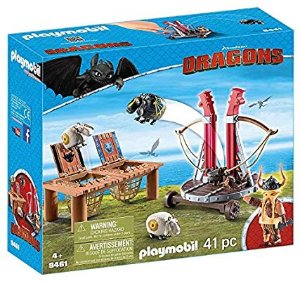 Playmobil How to Train Your Dragon Gobber The Belch with Sheep Sling: Toys & Games 玩具特价