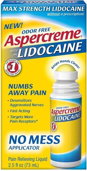 Amazon.com: Aspercreme 4% Lidocaine No Mess Applicator, 2.5 oz, Pack of 3: Health & Personal Care