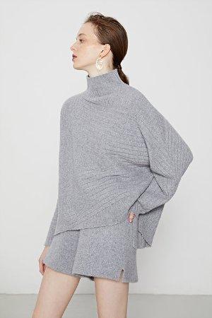 Ecru Emissary | Grey Andi Cashmere Blend Sweater | ecruemissary