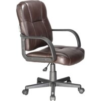 Relaxzen 皮质按摩办公椅  椅背带2个电动按摩头