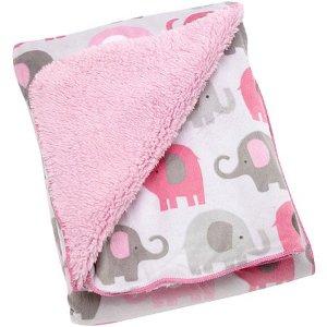 $7.15(原价$18.77)NoJo 大象图案抓绒毯 粉色 超值价
