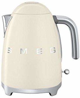 Amazon.com: Smeg KLF03CRUS 50's Retro Style Aesthetic Electric Kettle with Embossed Logo, Cream: Kitchen & Dining