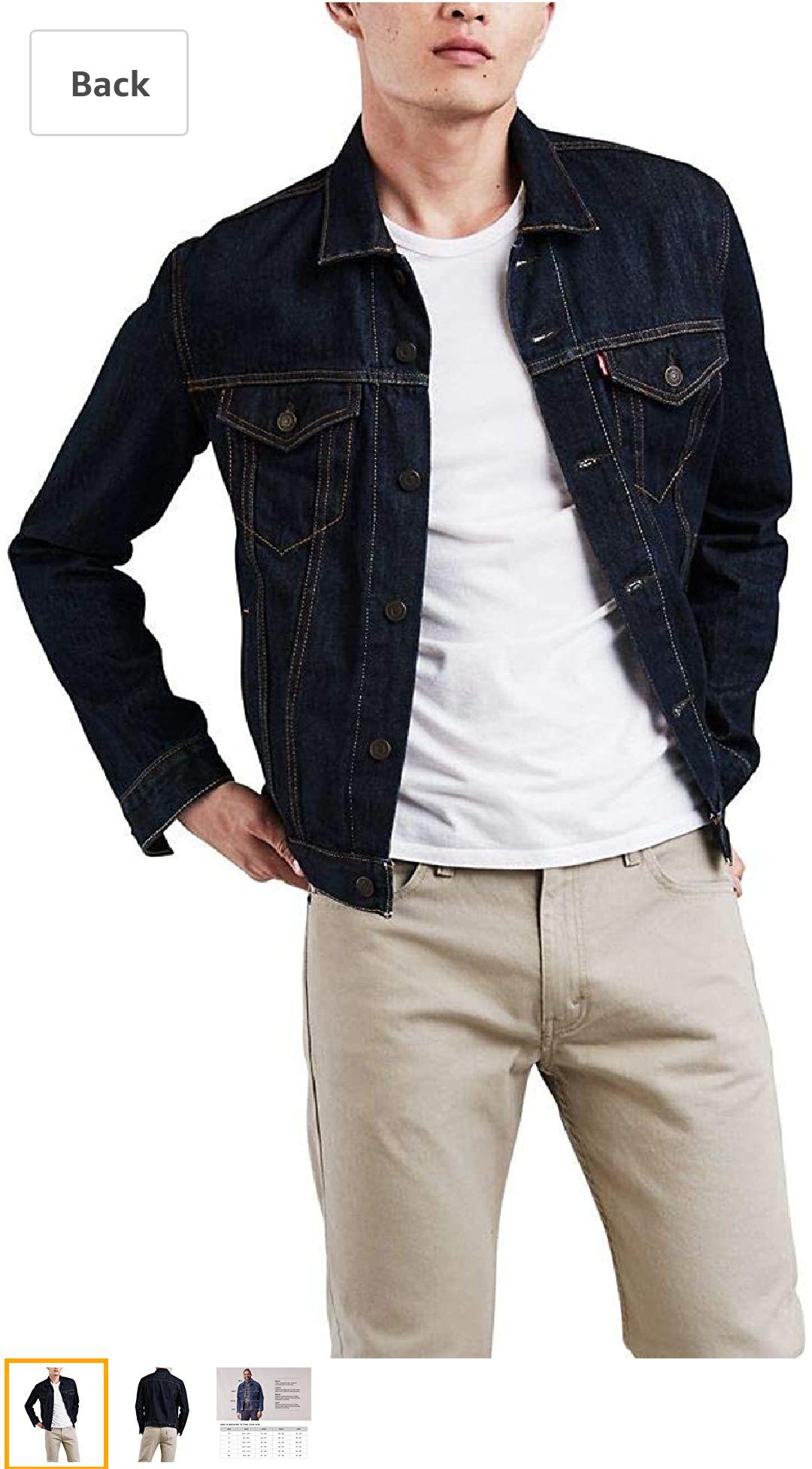 Levi's 男生牛仔夹克Men's The Trucker Jacket, Rinse, Medium at Amazon Men's Clothing store