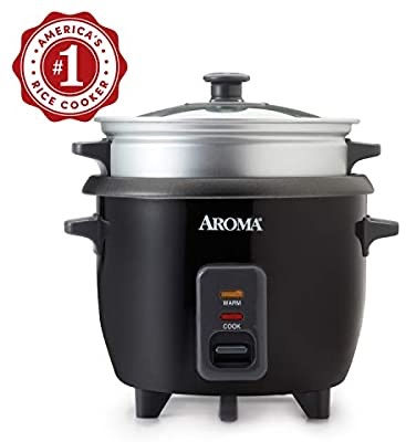 Amazon.com: Aroma Housewares ARC-363-1NGB 2-6 cups Cooked Rice cooker, Steamer, Multicooker, Silver: Kitchen & Dining电饭锅