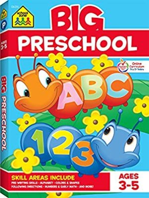 School Zone - Big Preschool Workbook - Ages 3 to 5, Colors, Preschool to Kindergarten, Shapes, Numbers 1-10, Alphabet, Pre-Writing, Pre-Reading, and Phonics (School Zone Big Workbook Series): School Zone, Shannon M. Mullally, Ph.D., Multiple Illustrators: 9780887431456: Amazon.com: Books