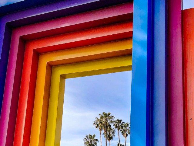 Santa Barbara 网红彩虹门🌈