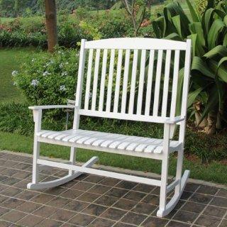 $56.31 (原价$119)Mainstays 庭院白色双人摇椅