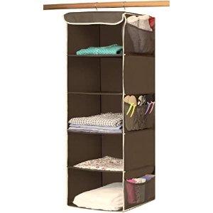 Simple Houseware 挂式衣物整理收纳格 5层
