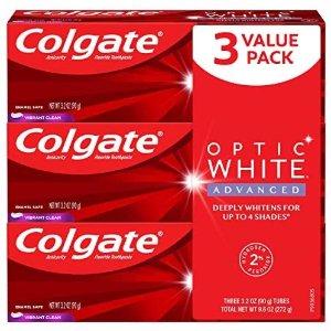 $5.35(原价$14.99) $1.78/只Colgate 高露洁高效美白牙膏 3.2oz 3只装