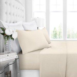 $5.36 (原价$12.13)Noble Linen 床上用品4件套,Queen