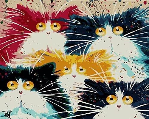 Komking 猫咪数字油画套装