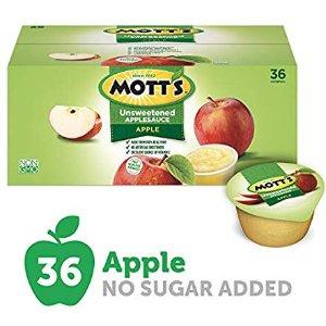 $11.56 一杯只需$0.32Mott's 无糖苹果果泥 3.2Oz 36杯