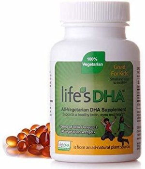 Amazon.com: Life's DHA Kids All-Vegetarian DHA Dietary Supplement | Supports a Healthy Brain, Eyes & Heart* | 100% Vegetarian | From All-Natural Plant Source | 100 mg of DHA Omega-3 | 90 Easy-To-Swallow Softgels: Health & Personal Care