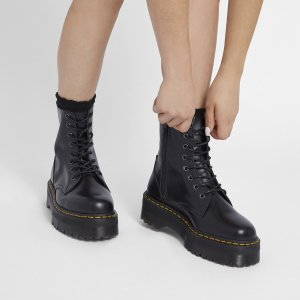 Women's Jadon Polished Smooth Boots in Black | Little Burgundy