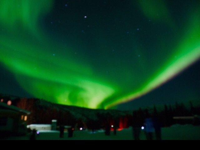 阿拉斯加极光旅之泡温泉
