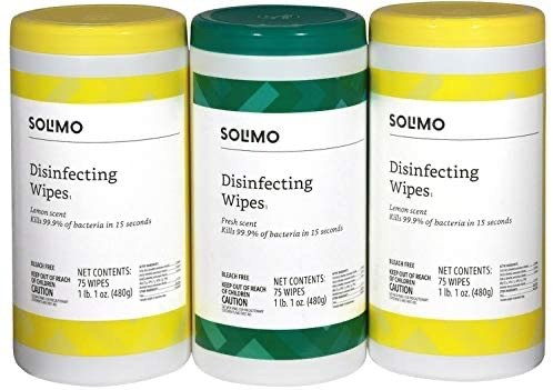 亚马逊自营品牌 Solimo 消毒湿巾 75片 3罐共225片