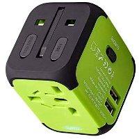 UPPEL 旅行充电器 带美欧英澳标准插头 适用于150个国家