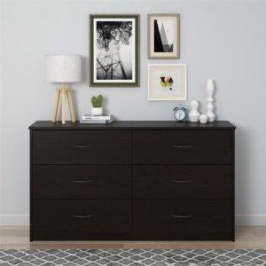 Mainstays 6 Drawer Dresser, Dark Russet Cherry