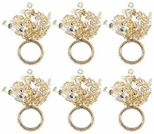 Amazon.com: DII CAMZ10671 Modern Chic Napkin Rings for Christmas, Holidays, Dinner Parties, Weddings Receptions, or Everyday Use, Set Your Table with Style, Set of 6, Bead Sparkle Gold: Home & Kitchen