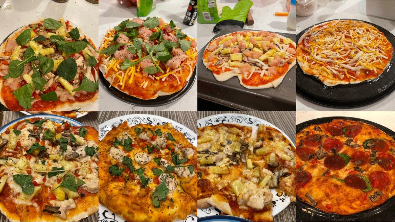 跟我一起做节日homemade pizza,想吃啥味做啥玩~(含全手工详细步骤)