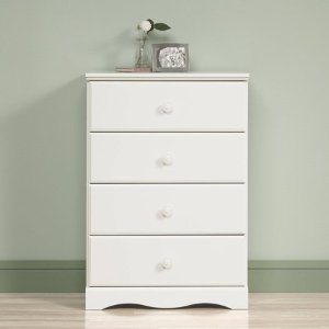 Sauder Storybook 4-Drawer Dresser, Soft White finish - Walmart.com