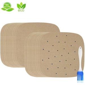 IMISUTD 空气炸锅垫纸/蒸笼屉纸8.5寸 150张