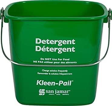 San Jamar 绿色商业清洁桶 3Qt