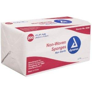 $5.82Dynarex Non-Sterile Non Woven Sponge, 4x4 Inch, 200 Count
