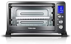 Amazon.com: Toshiba AC25CEW-BS Digital Oven with Convection/Toast/Bake/Broil Function, 6-Slice Bread/12-Inch Pizza, Black Stainless Steel: Kitchen & Dining