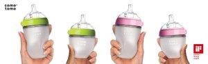 Amazon.com : Comotomo Baby Bottle, Green, 8 Ounce (2 Count) : Baby