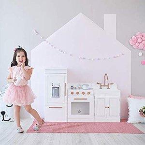Amazon.com: Teamson Kids - Little Chef Paris Modern Play Kitchen - White / Rose Gold: Toys & Games