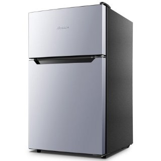 Hisense 3.2 Cu Ft Two Door Mini Fridge w/ Freezer RT32D6ASE, Stainless