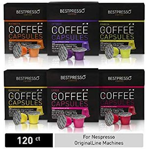 Bestpresso Coffee for Nespresso OriginalLine Machine 120 pods Certified Genuine Espresso Variety Pack, Pods Compatible with Nespresso OriginalLine: Amazon.com: Grocery & Gourmet Food