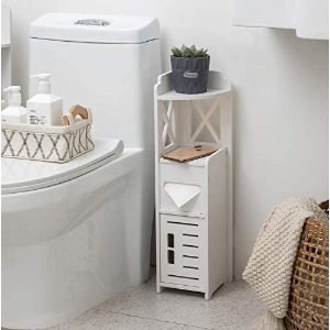 TuoxinEM 带门浴室储物角柜卫生间用收纳小柜
