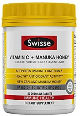 Amazon.com: Swisse Ultiboost Vitamin C with Manuka Honey | Immunity Support, Rich in Antioxidants | 120 Chewable Tablets: Gateway