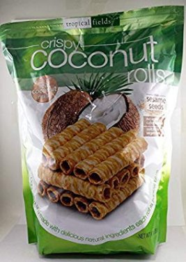 Amazon.com: Tropical Fields Crispy Coconut Rolls, 9.3 oz