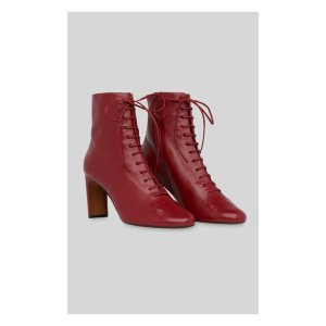 Red Dahlia Lace Up Boot | WHISTLES