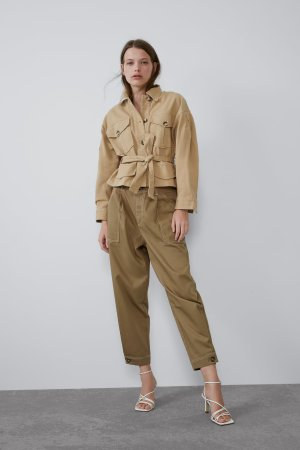SLOUCHY PANTS WITH TOPSTITCHING-High Waist-PANTS-TRF | ZARA United States