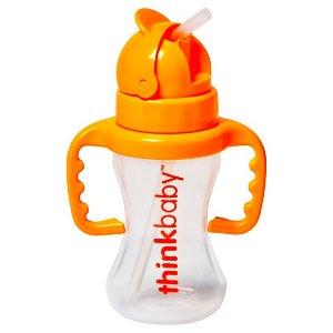 Thinkbaby Toddler Straw Cup Orange Sorbet : Target