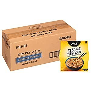 $7.13 only $1.18 per nightSimply Asia Sesame Teriyaki Noodle Bowl with Toasted Sesame Seeds, 8.5 oz (Pack of 6)