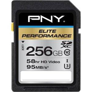 $39.99(原价$49.99)PNY Elite Performance 256GB SDXC 闪存卡